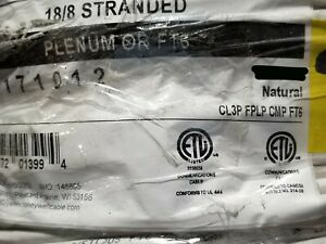 Honeywell Genesis 3117 18/8C Plenum Stranded Security/Control Cable White /50ft