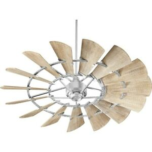 Quorum 60' 15 Blade Windmill Ceiling Fan, Galvanized - 96015-9
