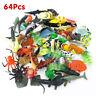 64pcs Ocean World Animals Sealife Models Plastic Bath Toys Marine Life Creatures