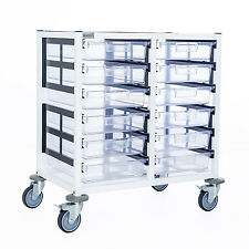 Double Column 6 Level A4 Medical Trolley