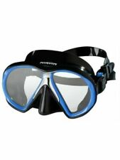 Atomic Aquatics Subframe Mask Black Skirt Size Regular Royal Blue