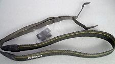 Nikon Yellow Neck Strap Genuine 122cm x 2.5cm Grey trim DSLR SLR film Digital