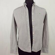 Lacoste Womens Top Shirt 42 (Size 10)  Long Sleeve  Regular Striped Cotton