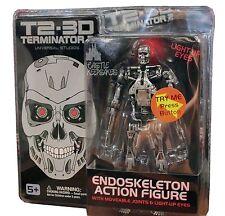 Universal Studios T2-3D Terminator 2 Endoskeleton Action Figure Light Up Eyes