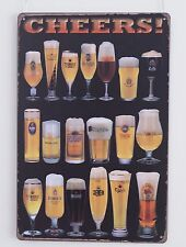 CHEERS BEER Sign Advertising Metal Tin Bar Signs Tavern Pub Wall Plaque Poster