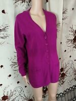 bluhmod purple button down warm ladies woman's long sleeve cardigan size M. w2