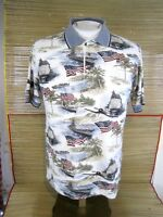 BOCA CLASSICS Men Shirt POLO pit to pit 22 air craft carriers USA Flag Patriotic