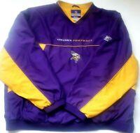Minnesota Vikings NFL Men's Pullover Jacket Authentic Reebok Sideline 4XL