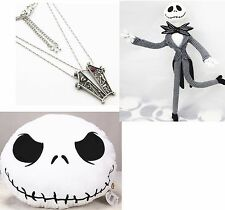 Nightmare Before Christmas Jack Skellington & Plush Pillow & Sally Necklace