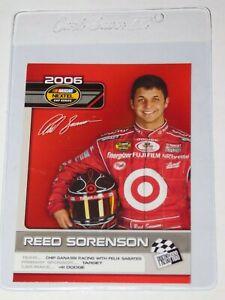 2006 PRESS PASS NASCAR TOP 25 DRIVERS & RIDES REED SORENSON CARD #D19