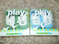Lot of 2 boys TRUMPETTE TOO Blue Green SNEAKERS Shoes* 3 6 months NEW IN BOX NIB