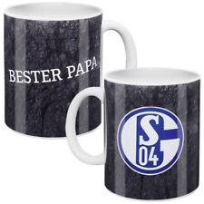 FC Schalke 04 Tasse Bester Papa Becher Kaffeebecher grau