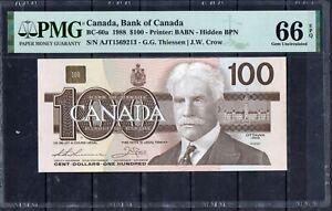 Canada BC 60 1988 100 Dollars UNC PMG 66 Rare