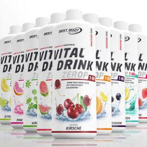 Best Body Sirup Vital Drink Getränkesirup Konzentrat 1 L  34 verschiedene Sorten