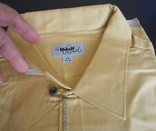 NOS 50's-60's UDOLF Yellow + Gold & Blue Embroidered! Loop Collar  ROCKABILLY XL
