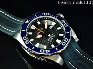Invicta Men's 52mm GRAND DIVER Automatic BLACK DIAL Silver Tone Limited Ed Watch
