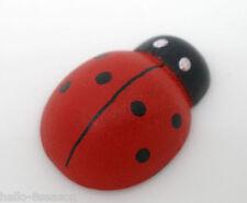 100 legno verniciato Ladybug Craft Ornamento Per Scrapbook