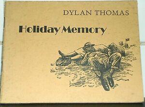 DYLAN THOMAS Swansea SUMMER SEASIDE Holiday Memory 1972 1st illus Meg Stevens Ed