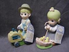 "2008 Precious Moments 9"" Boy & Girl Statues"