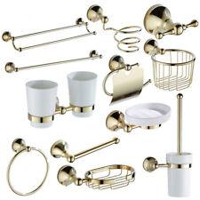 Роскошный золотой латуни аксессуаров для ванной набор Туалетная держатель мыльница полка для полотенец