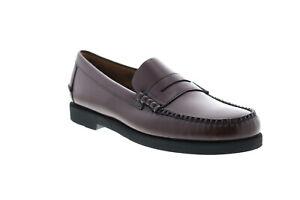 Sebago Dan Polaris 7001GW0 Mens Burgundy Loafers & Slip Ons Penny Shoes