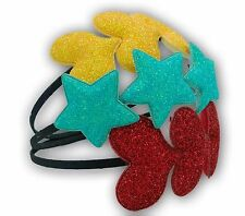 Glitter Girls Headband Bulk Buy 12 Pcs Heart Star Shaped Teens Party Wear New