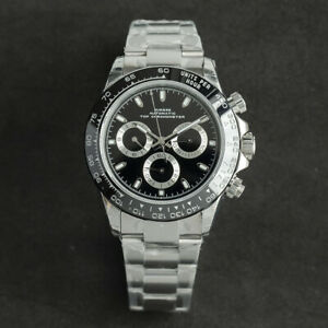Sugess Automatic Mechanical Chronograph Watch Daytona Paul Newman 7750 ETA 1963