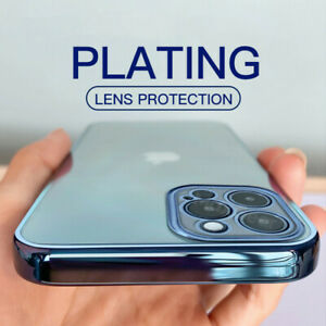 Luxury Plating Bumper Soft Clear Case Cover For iPhone 13 12 11 Pro Max XR X 7 8