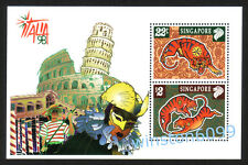 Singapore 1998 Zodiac Year of the Tiger - Italia Stamps Exhibition M/S Mint NH