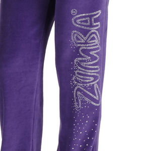 Authentic New Zumba UK Gleam Velour Track Pants  ~  Purple  ~ ALL SIZE ~  NWT