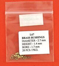 KWM Brass Bushing Size L-67  2.7mm x 1.4mm 1.7 mm bore 20 pack