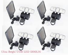 4-pk Ultra Bright COB LED Triple Head Solar Powered Motion Sensor Security Light