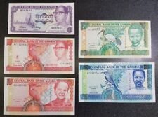 Lot Of 5 Banknotes Of Gambia 1 5 10 25 Dalasis #29