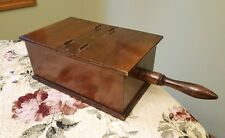 Antique Original Wooden FREEMASONS MASONIC BALLOT BOX with Handle & Trap Door