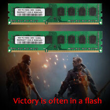 100%New 4GB DDR3 1333MHz PC3-10600U Dimm Desktop AMD Memory RAM Kit 4GB