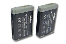 2x Akku 1010mAh 3.7V Li-Ion für Canon PowerShot G7x Mark II, SX720 HS, SX720HS