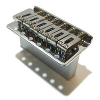Tremolo in chrome 10.5mm string spacing with steel sustain block.