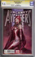 Uncanny Avengers #1 1:75 Granov Variant CGC 9.6 NM+ SS Signed by John Cassaday