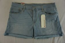 NWT LEVI'S Women's Blue Mid Length Roll Up Denim Shorts Size 33