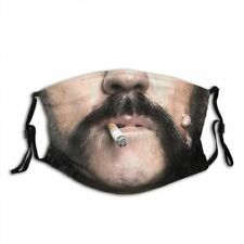 MOTORHEAD LEMMY Moustache Metal Face Mask Washable reusable Cotton Mouth Shield