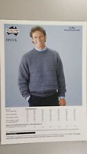 Heirloom Knitting Pattern #171 to Knit Man's Round Neck Jumper in 5 Ply