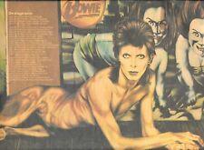 "Original David Bowie Diamond Dogs Tour 1974 Schedule Ad Advertisement 13"" X 9"""