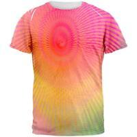 EDM Pastel Unicorn Rainbow Spiral All Over Mens T Shirt