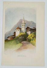 Suisse Eglise de Stalden c1899 Postcard G13