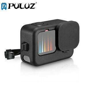 PULUZ for GoPro HERO9 Black Case+POM Side Interface Cover with Wrist Strap