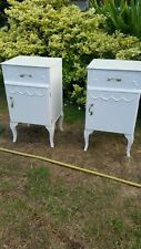 French Antique Style Bedside Cabinets table