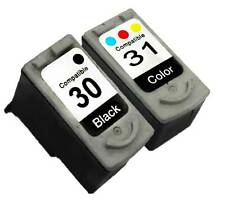 2PK PG-30 CL-31 PG30 CL31 INK CARTRIDGE FOR CANON Black-Color