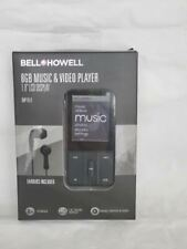 """Bell Howell 8GB Music & Video Player 1.8"""" LCD Display Color :Black"""