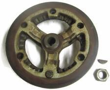 Vtg Wayne Gas Solo Fuel Pump Cast Iron Pulley 6.75 Inch Adjustable Sheave