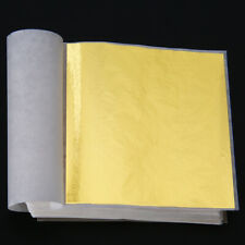 100 Sheets Diy Rose Gold Foil Leaf Gilding Handicrafts Paper Decoration 9cmx9cm